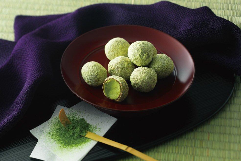 Мини-трюфели «Зеленый чай»