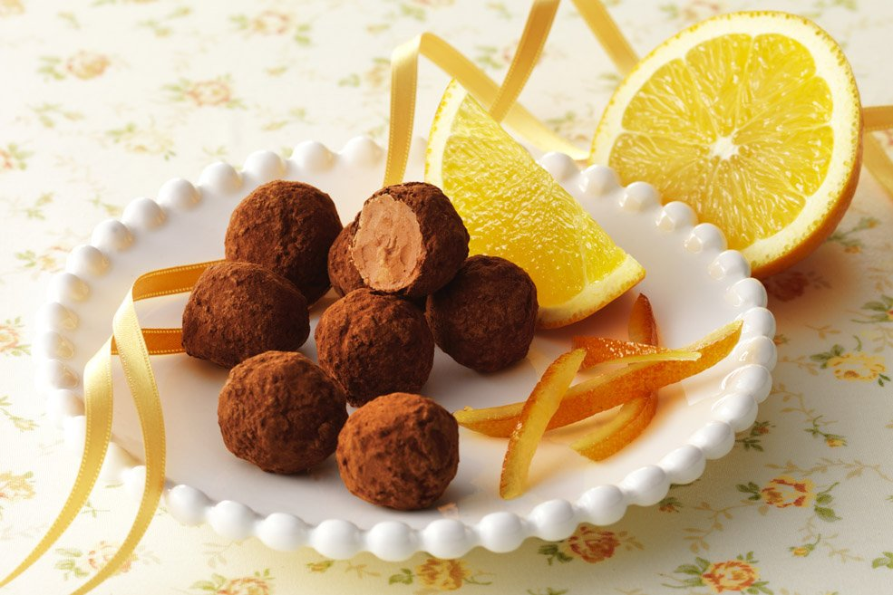 Мини-трюфели «Апельсиновые»