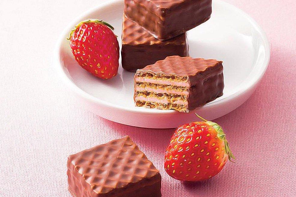 Вафли в шоколаде «Клубника»