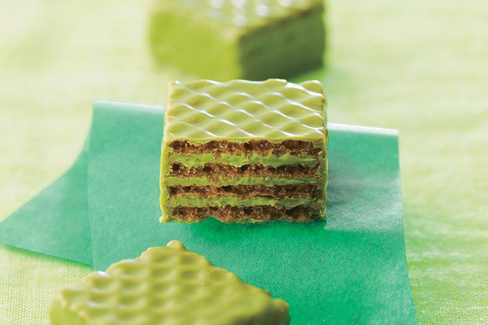 Вафли в шоколаде «Зеленый чай»