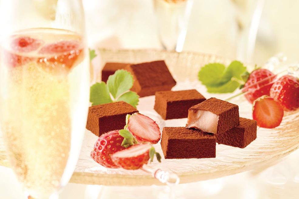 Нама-шоколад «Клубника и шампанское»