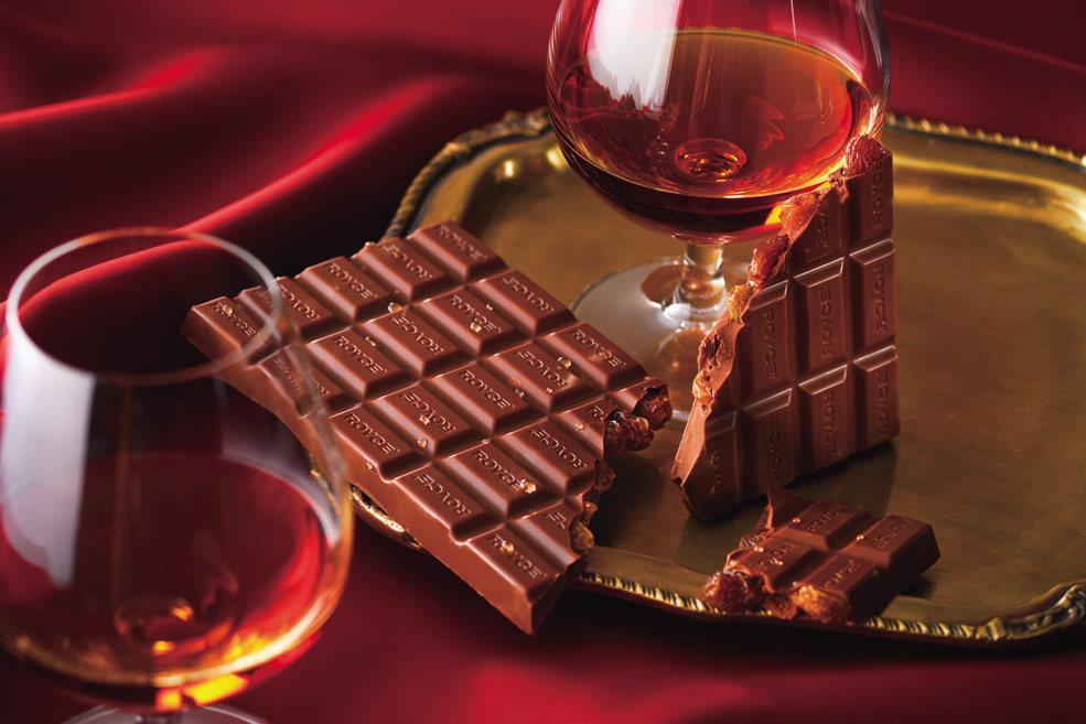 Плиточный шоколад  «Изюм в Коньяке»